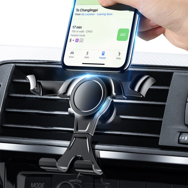 Universal Gravity Phone Holder In Car Air Vent Clip Mount Stand GPS Telefon Support For iPhone 12 11 7 Xiaomi Mi Samsung Huawei