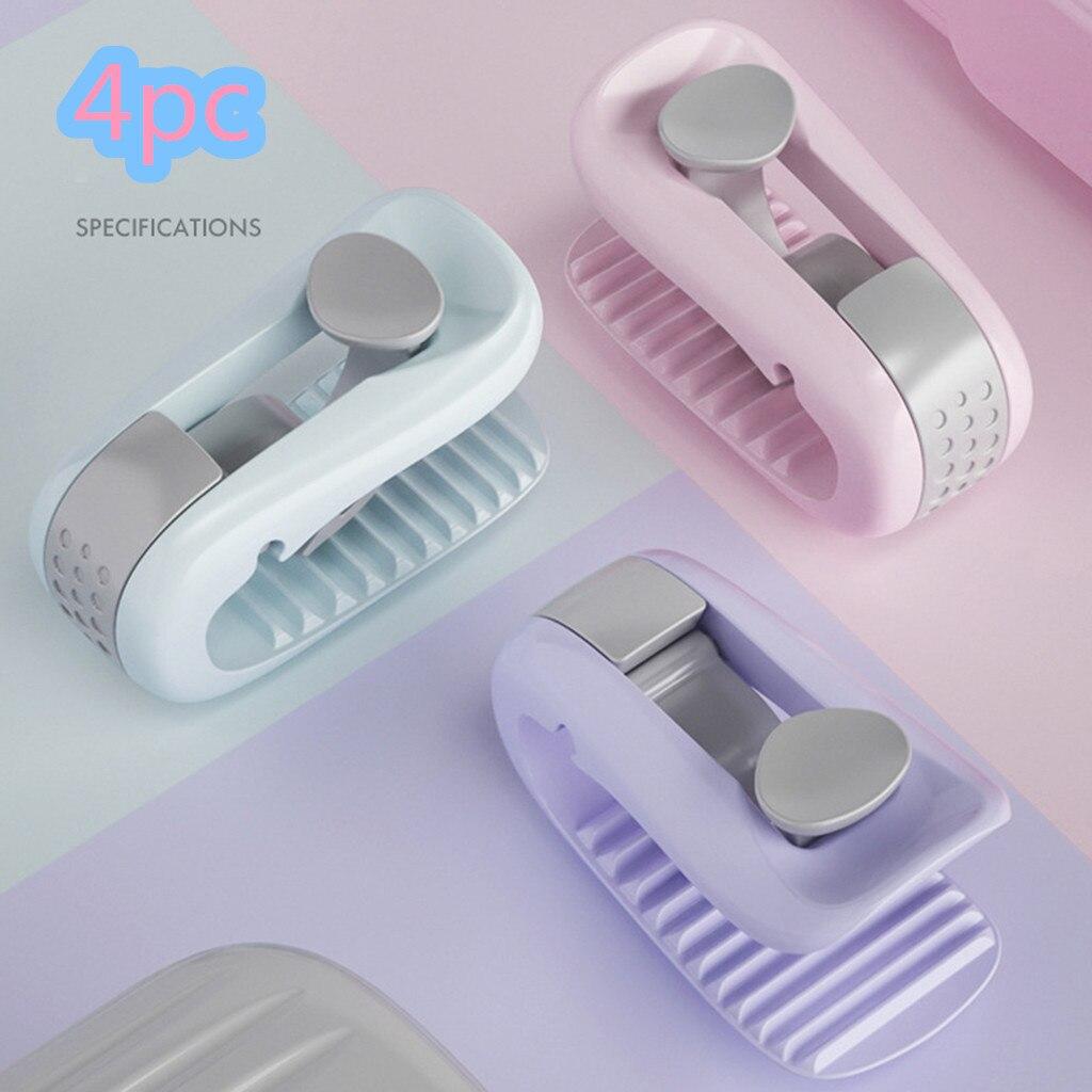 4 soportes de edredón de alta calidad y cómodo Almacenamiento de ropa de cama clip de sujetador de clip antideslizante de la cubierta del edredón de cama clip de lino de La felpa
