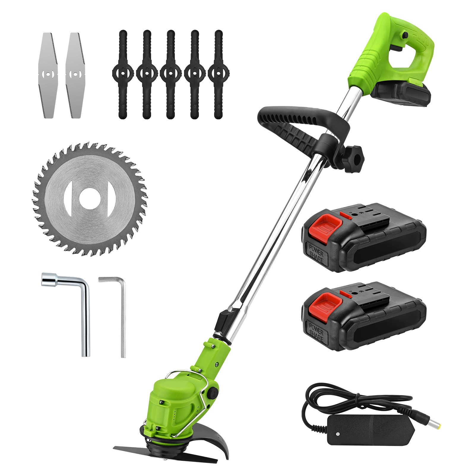 21V Electric Cordless Hedge Trimmer for Grass Trimmer Battery Lawn Mower Brush Cutter Telescopic Pole Garden Tool