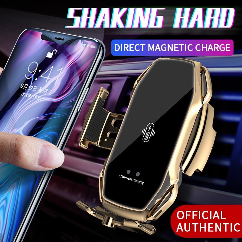 Автомобильные беспроводные зарядные универсальные магнитные Инфракрасные Индукционные автомобильные принадлежности с 3 магнитными всасы...