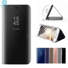 Mirror Flip Phone Case for Huawei Y6 2019 Y7 Y5 Y9 Prime Leather Cover for Honor 9X Pro 20i 10 Lite V30 Nova 5T Nova 7i Bracket