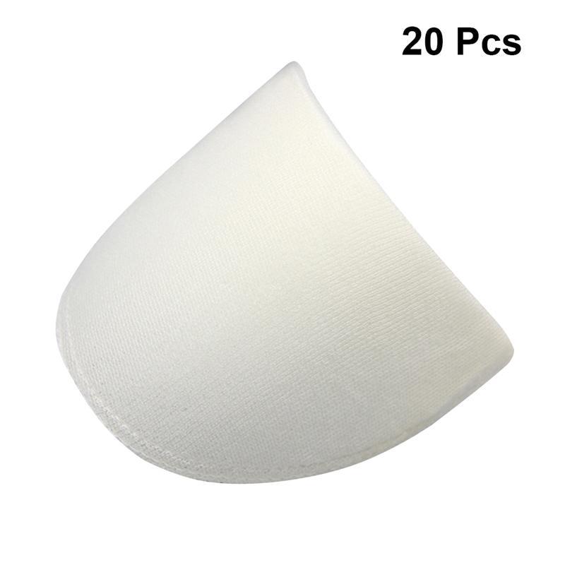 Almofadas práticas para ombro, costura conveniente, esponja branca, útil, almofada de ombro para roupas blazer, 20 peças