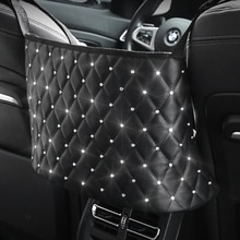 Car Seat Storage Organizer Handbag Holder Seat Crevice Net Bag Holder Seat Hanging Bag Luxury Rhines