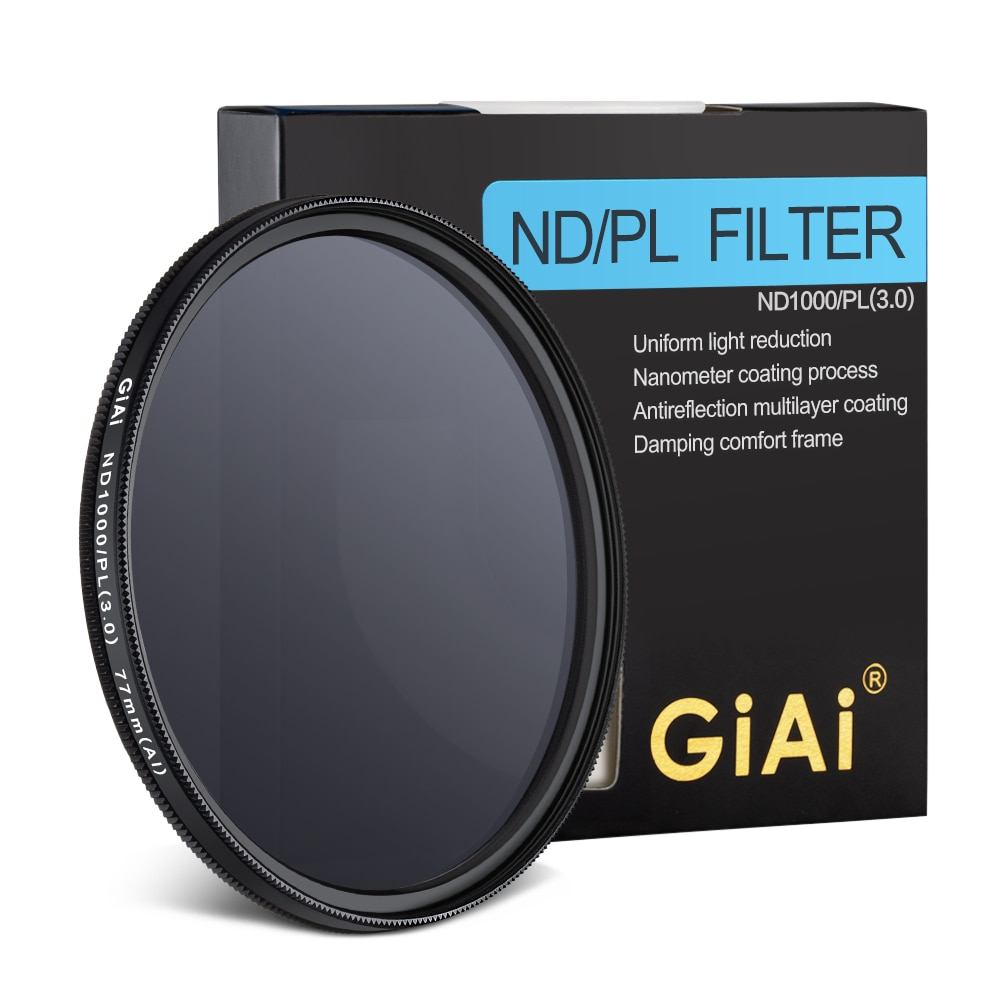 GiAi High Quality Universal 2 IN 1 Camera Lens ND CPL Filter 37 mm 40.5 mm 43 mm 46 mm 49 mm 52 mm 58 mm 62 mm 67 mm 77 mm 82 mm