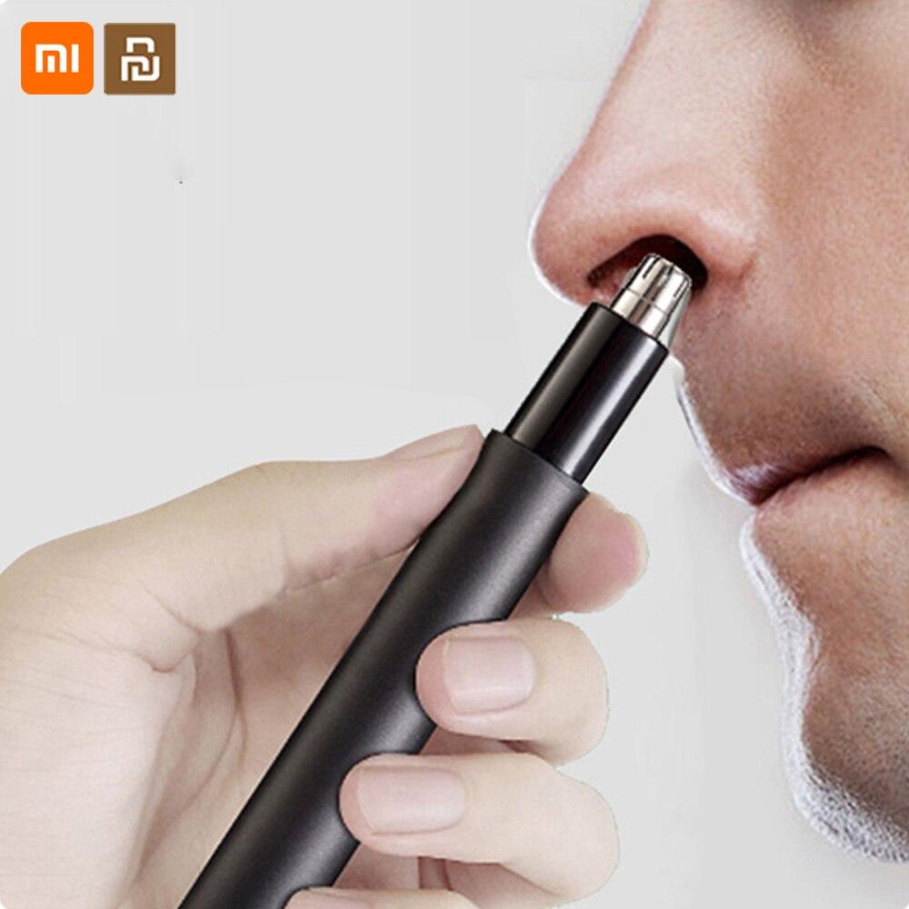 Aparador nasal de pelos xiaomi, aparador original, limpador de pelos do nariz, para homens