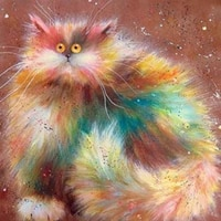 color cat plush handmade diy oil paint paint by numbers kit on canvas wall art home decor digital painting for wedding family