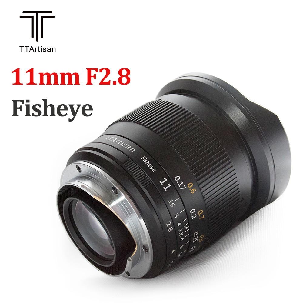 TTArtisan-عدسة عين السمكة ، 11 مللي متر F2.8 ، واسعة جداً, لكاميرا Leica L Sony E Canon RF Nikon Z mount ، كاميرا A7R3 A7S A7RII A6300 Z6 Z7