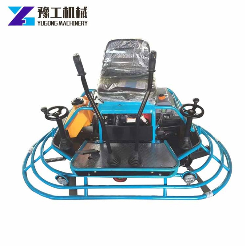 Gasoline Ride-on Power Trowel Concrete Leveling Machine Polishing Warehouse Factory Parking Square Airport Mud Compact