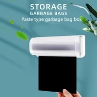 garbage bag storage box wall shelf bathroom storage kitchen organizer plastic boxes removable plastic finishing containe