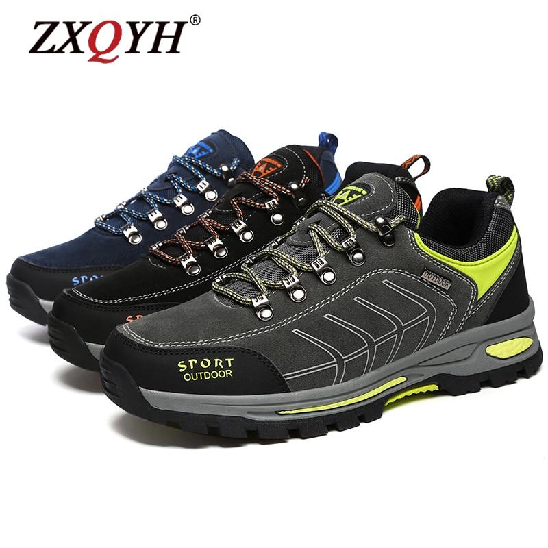 Men Hiking Boots Wear Resisting Casual Shoes Non-slip Sneakers Mountain Climbing Trekking Footwear Couple Walking Outdoor Train