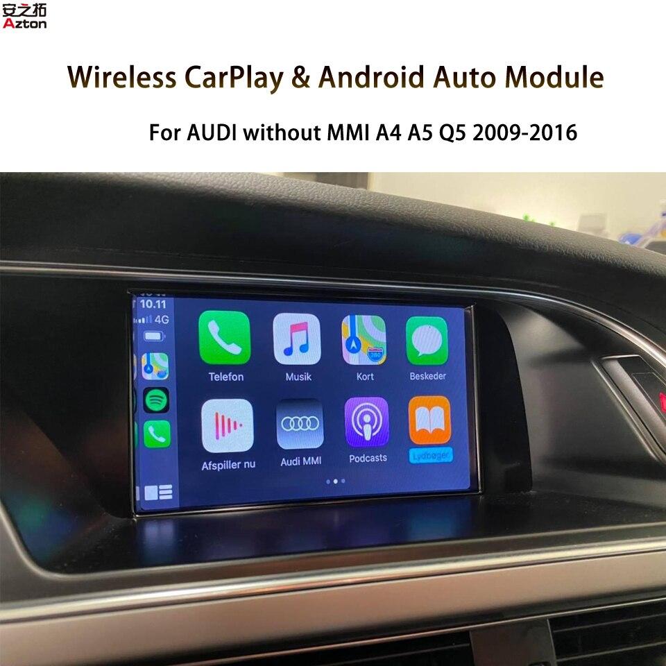 A4 B8 الحفل CarPlay التحديثية أندرويد السيارات شاشة النسخ المتطابق المتكاملة لأودي دون MMI شاشة تعمل باللمس سيري التحكم الصوتي