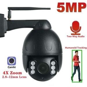 Outdoor Security Camera WiFi Smart Camera 5MP 1080P Video Surveillance WiFi Camera PTZ IP Camera Outdoor 4X Optical Zoom Camhi