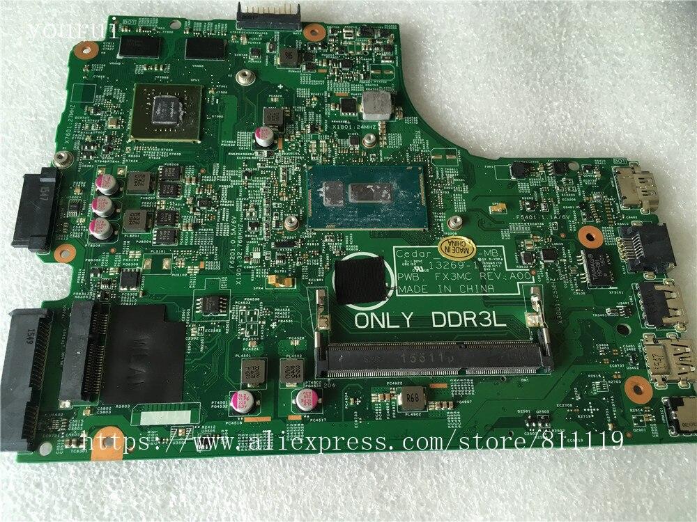 Yourui V162V 0V162V CN-0V162V 13269-1 اللوحة الأم لديل 3543 3443 laptopmotherboard DDR3 اختبار بالكامل