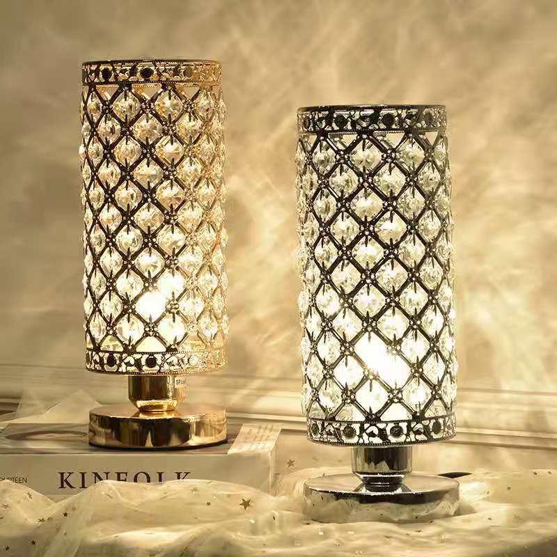europeu estilo moderno plug in candeeiro de mesa de cristal criativo sala de estar