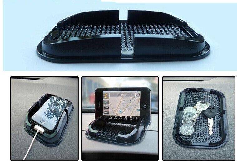 Nuevos accesorios de coche negro alfombra de teléfono móvil para Nissan Tiida Teana Skyline Juke x-trail Almera Qashqai para BYD cs35 cs75 ec7 ec8