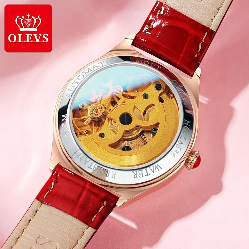 Automatic watch women mechanical luxury brand OLEVS clock lady wristwatch waterproof elegant women watch set fashion watches2020 enlarge