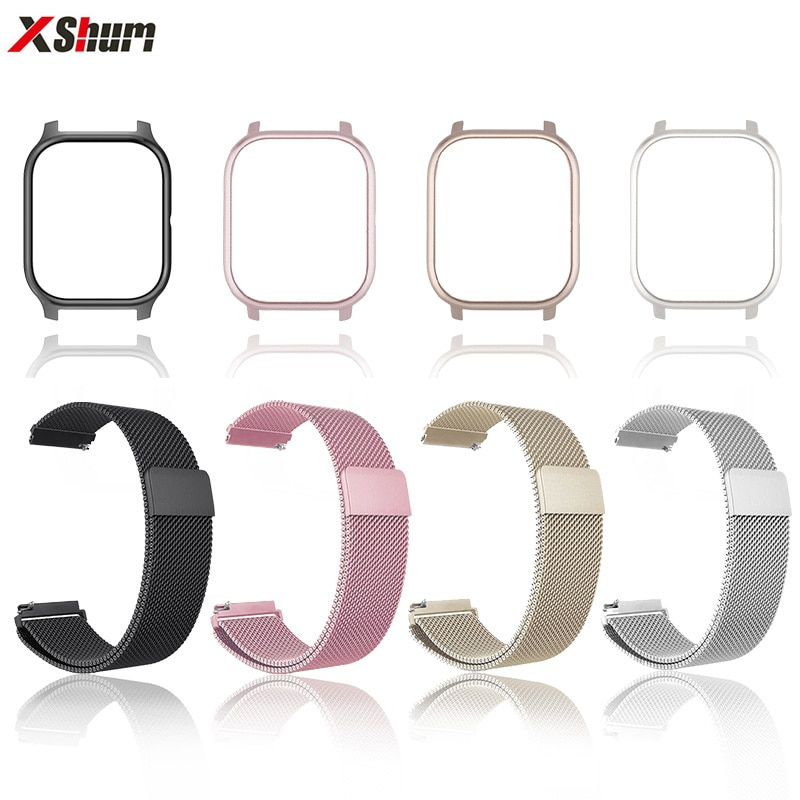 Correa Amazfit GTS con funda Xiaomi Amazfit GTS brazalete de Metal Huami 20mm Protector para accesorios de reloj inteligente