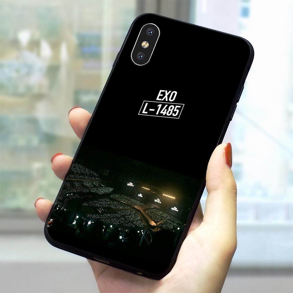 Suave TPU KPOP EXO obsesión caja del teléfono para iPhone X XR 11 pro 5 7 8 Plus 6 6S 5S Xs.