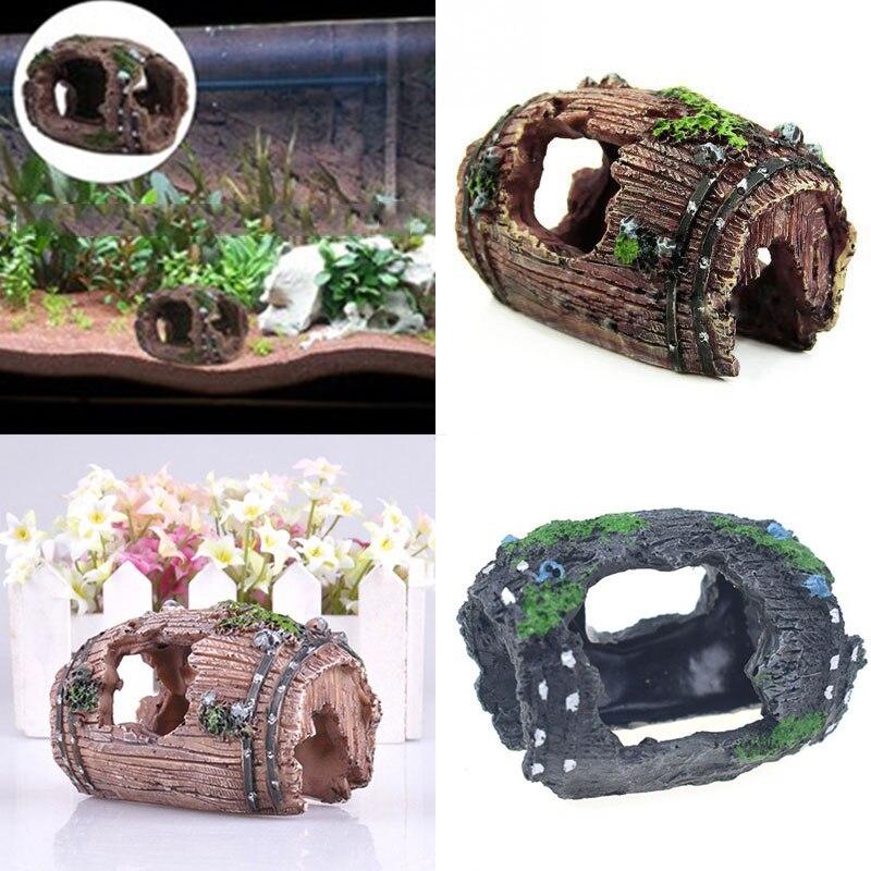 Полимерные украшения для аквариума, искусственные антикварные винные бочки, пещера, искусственное украшение для аквариума