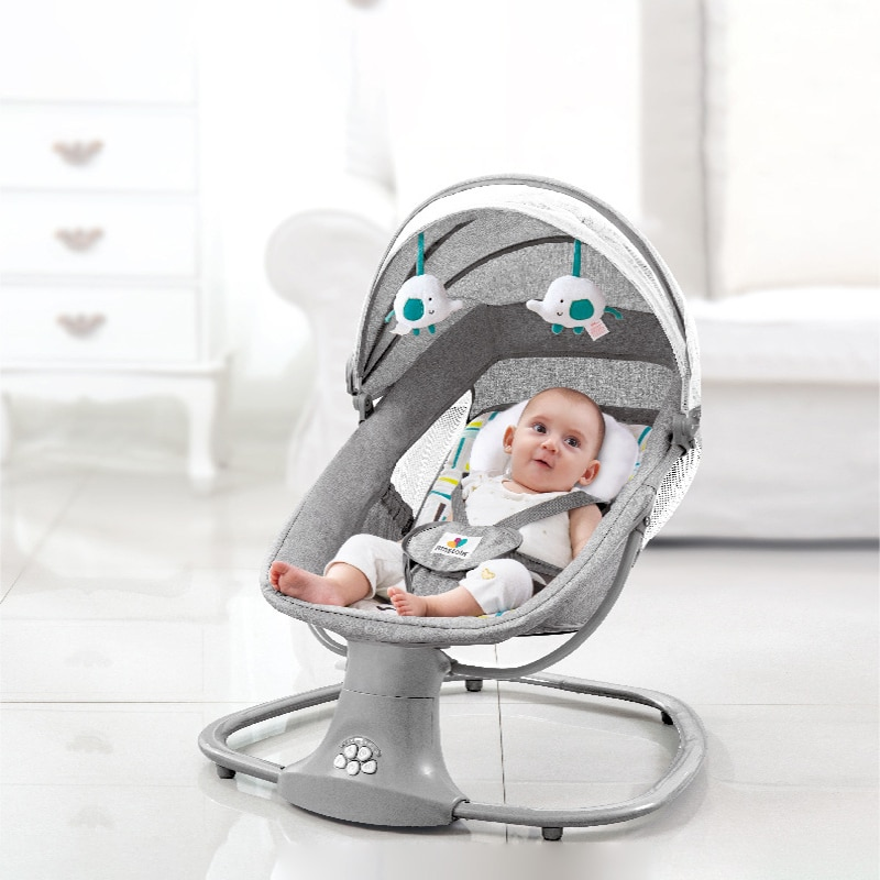Baby Electric Rocking Chair Baby Coax Baby To Sleep Newborn Cradle Bed Child Comfort Chair Recliner Multifunctional Crib Cradle enlarge