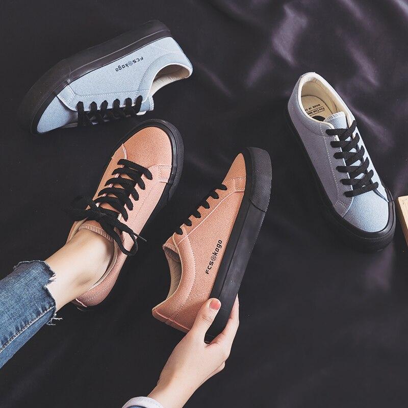 المرأة أزياء الربيع أزياء شقة أحذية رياضية الإناث اللون الشقق الأحذية عارضة المنخفضة أعلى منصة أحذية رياضية النساء الأحذية اللون الإناث