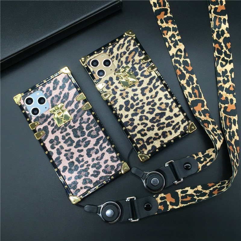 Lujo leopardo cubierta del teléfono de caso para Samsung Galaxy S20 Ultra S9 S10 más J6 S8 Nota 9 10 8 A10S A30 A50 A51 A70 M20 M30