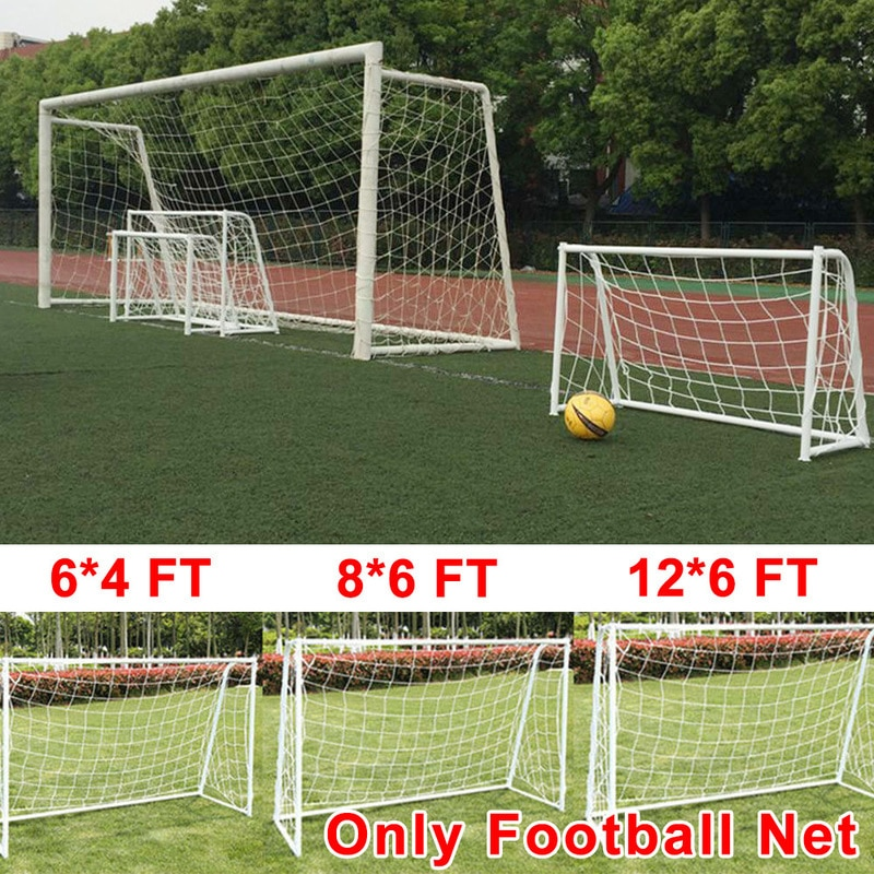 Full Size Football Net for Soccer Ball Goal Post Junior Sports Training Nets Outdoor Team Sport Games Football Accessories