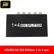 1x4 SDI Splitter Verstärker Konverter SD-SDI HD-SDI 3G-SDI Video Repeater Extender Adapter Verteilung 1 in 4 out Kamera zu TV