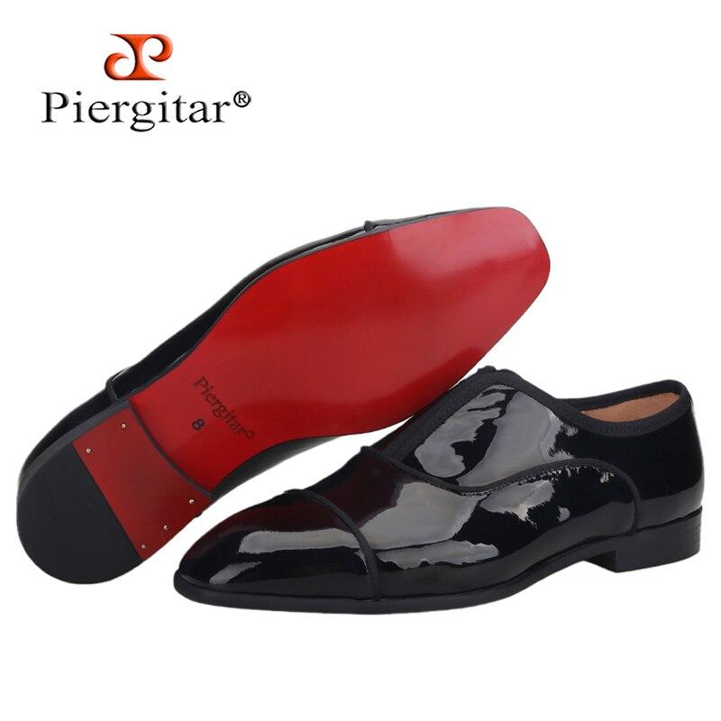 بيرجتار 20201 الصيف نمط جديد براءات الاختراع والجلود الرجال أحذية بوسينس غير رسمية اليدوية الرجال الأحذية الرسمية اللون الأحمر أسفل حجم كبير