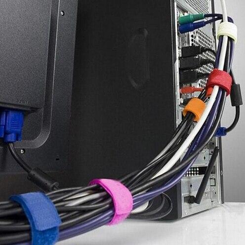 Enrollador Clip titular Wrap Wire Organizer herramienta de hilo de alambre JETTING enrollador de Cable envuelto Cable de línea enchufe auricular Cable bobina