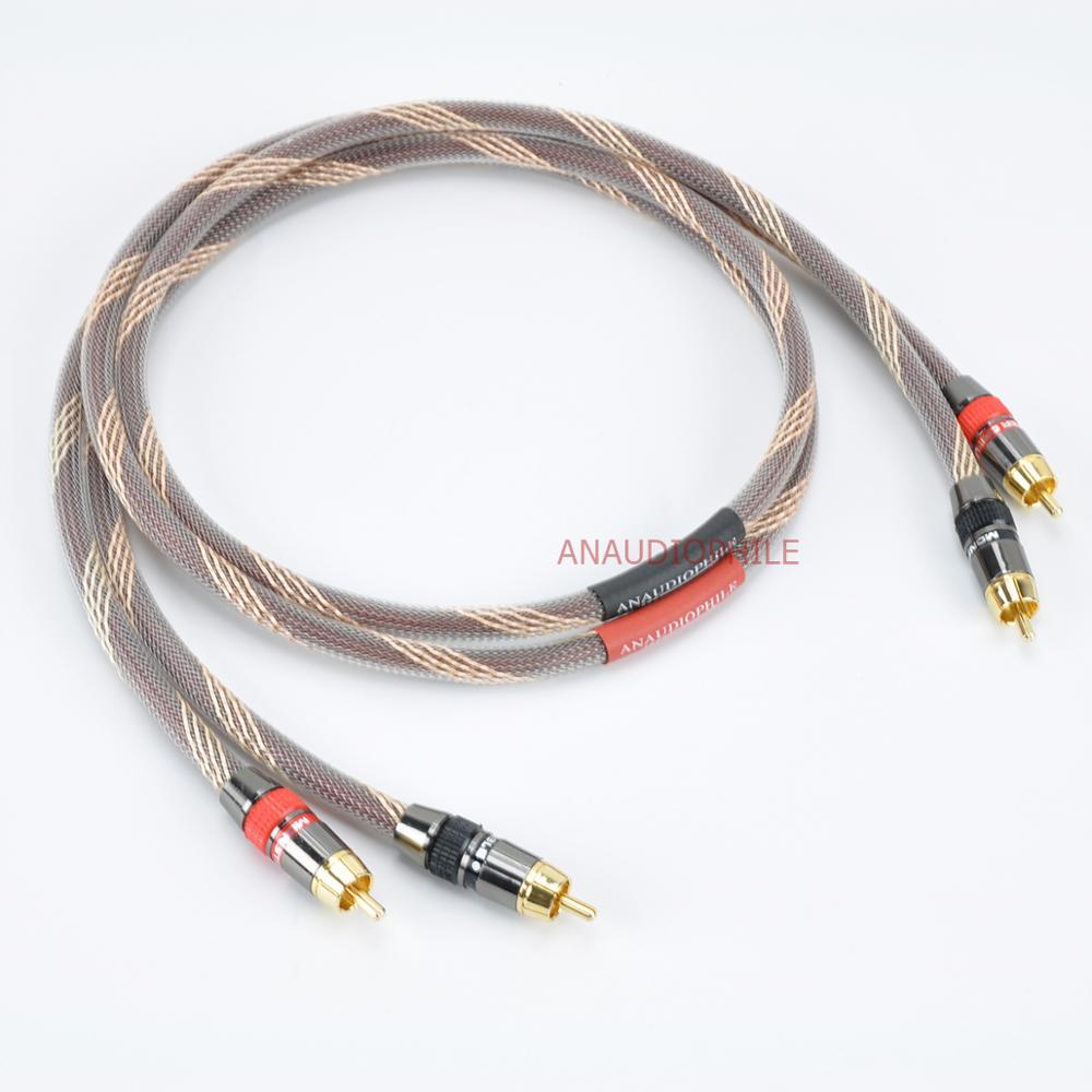 Alta fidelidade rca cabo par 4n ofc rca cabo macho para macho rca cabo de interconexão de áudio de alta fidelidade cabo