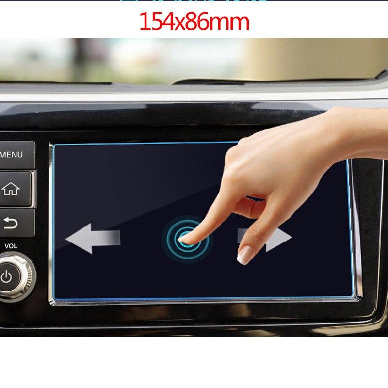 7 дюймов 154x86 мм для Nissan Kicks 2017 автомобильный навигационный экран протектор центральный дисплей защитная пленка из закаленного стекла