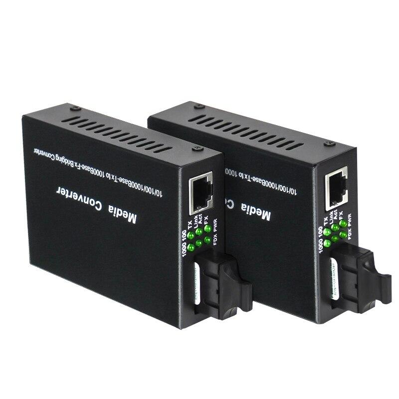Gigabit Ethernet Fiber Media Converter with a Built-in 1Gb Singlemode SC Transceiver,10/100/1000M RJ45 to 1000Base-LX,up to 20km