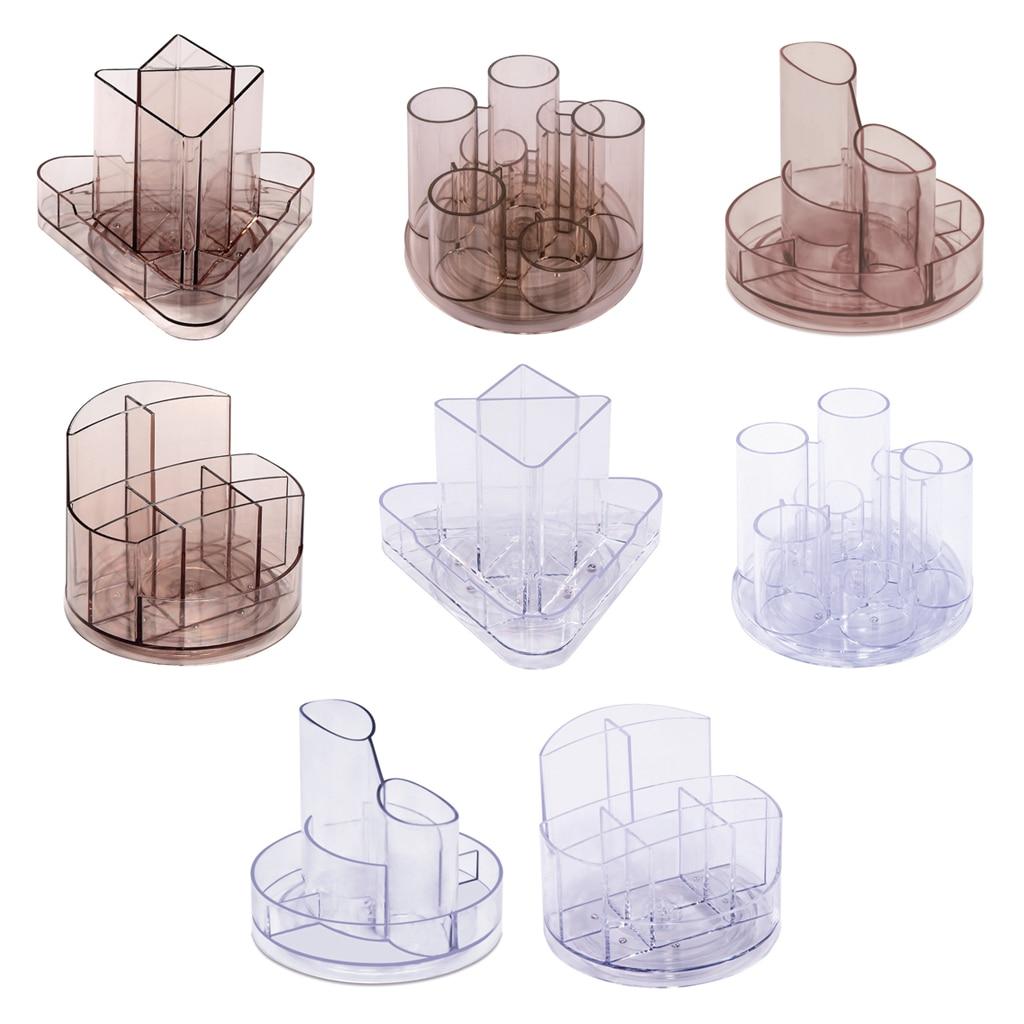 Прозрачный держатель для ручек, вращающийся на 360 °, органайзер для художественных принадлежностей, пластиковый горшок для ручек, держатель...
