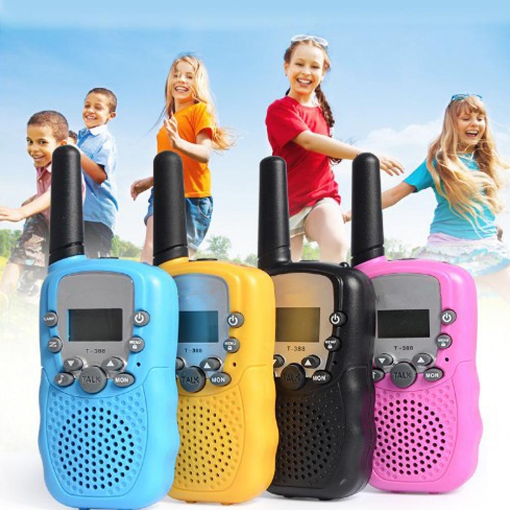 2pcs/set Portable Two-Way Walkie Talkie Kids Radio Walkie Talkies Mini Transceiver Interactive Toys For Children Birthday Gift