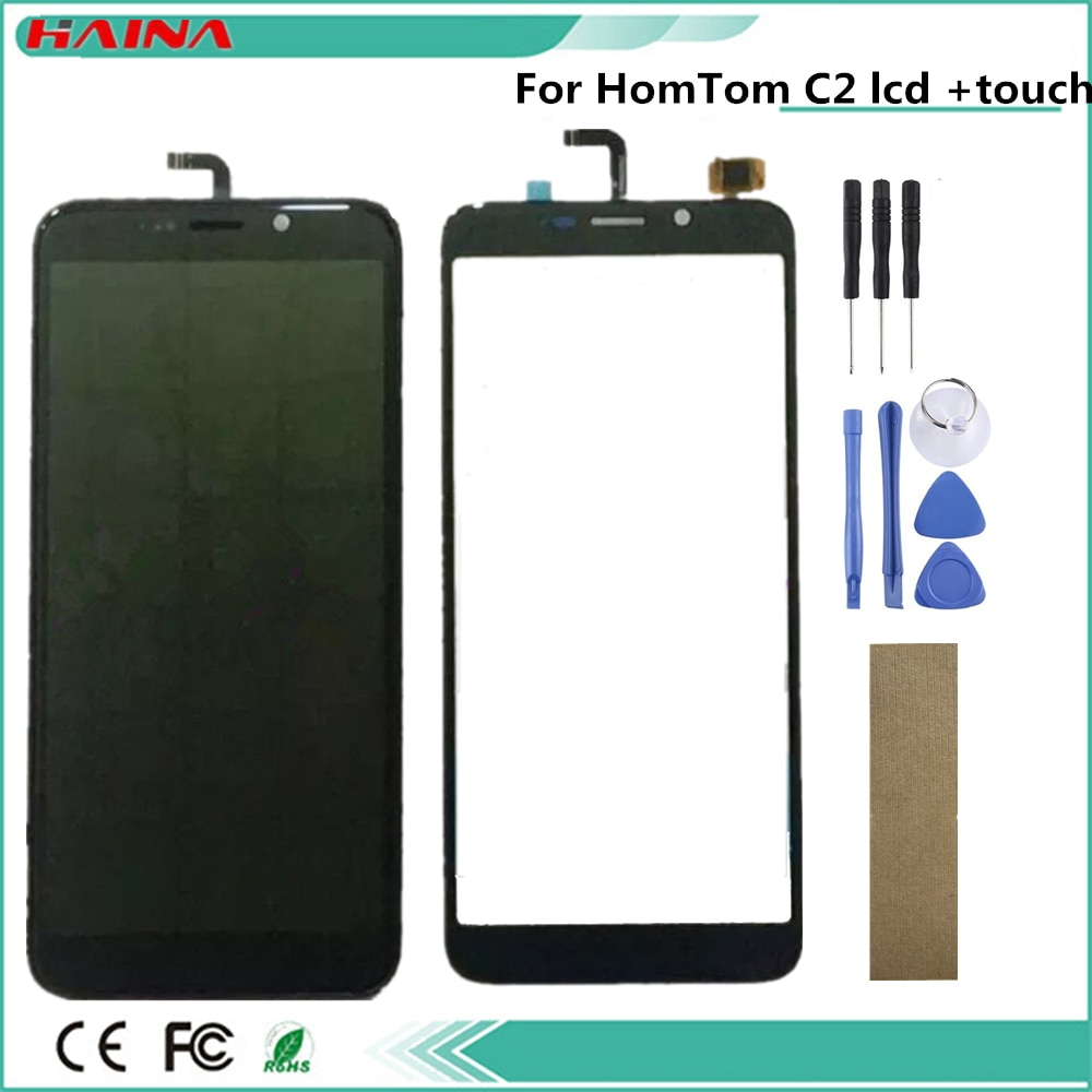 "5,5 ""pulgadas para Homtom C1 / C2 pantalla LCD con pantalla táctil de digitalizador con marco + herramientas libres"