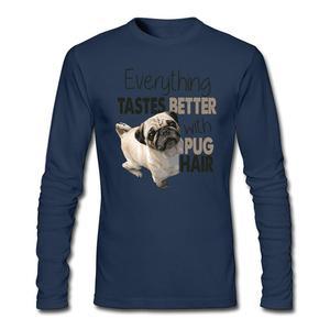 Popular men I Love My Puppies T-Shirt Korean Printer Shirts Everything Tastes Better tee shirt Crew neck  Full-sleeved Costumes