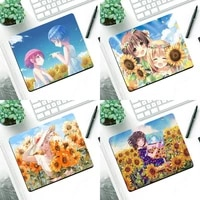 anime sunflower customized laptop gaming mouse pad small pads rubber mouse mat mousepad desk gaming mousepad cup mat
