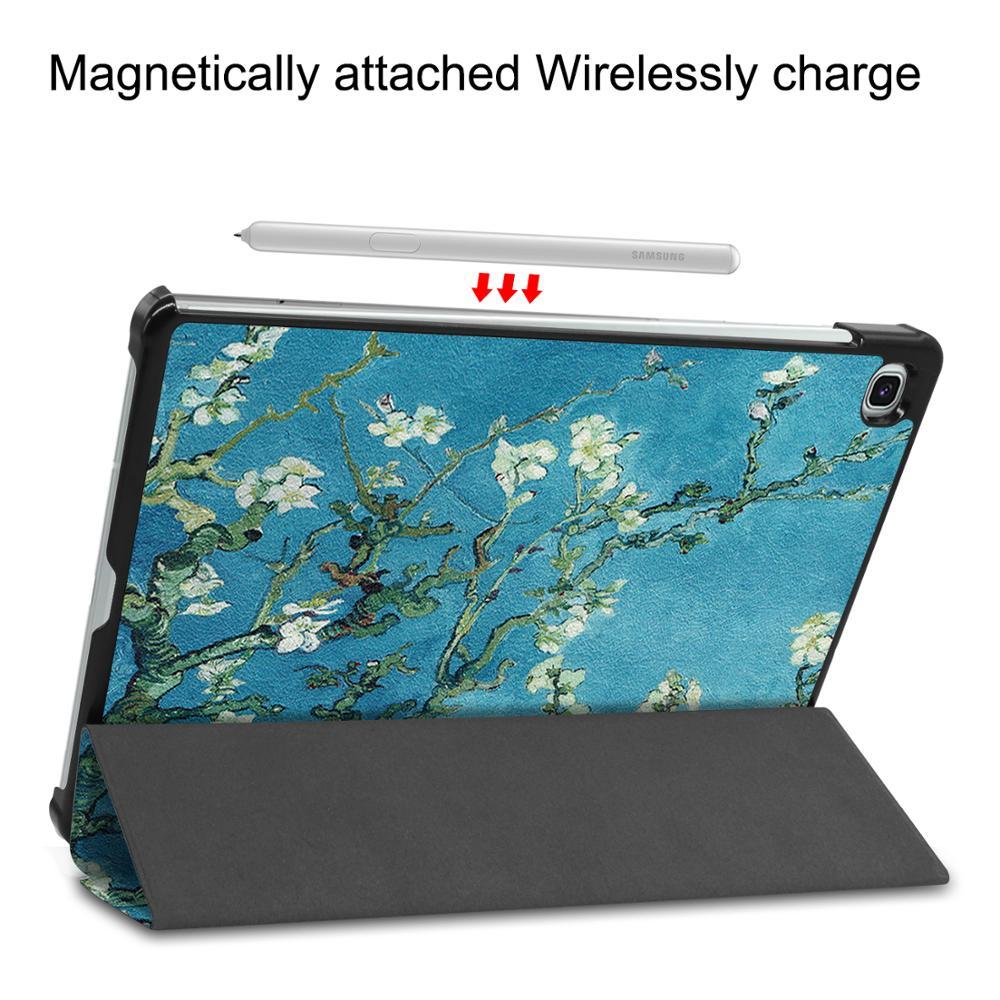 Fodable suporte para samsung galaxy tab s6 lite SM-P610 SM-P615 10.4 polegadas capa protetora tablet