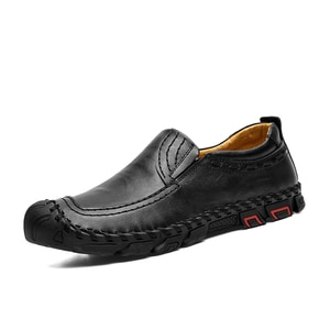 Men's Casual Shoes Comfortable man Loafers Leather Shoes Quality Handmade Mens Flats Mocassin Homme Big size 38-46