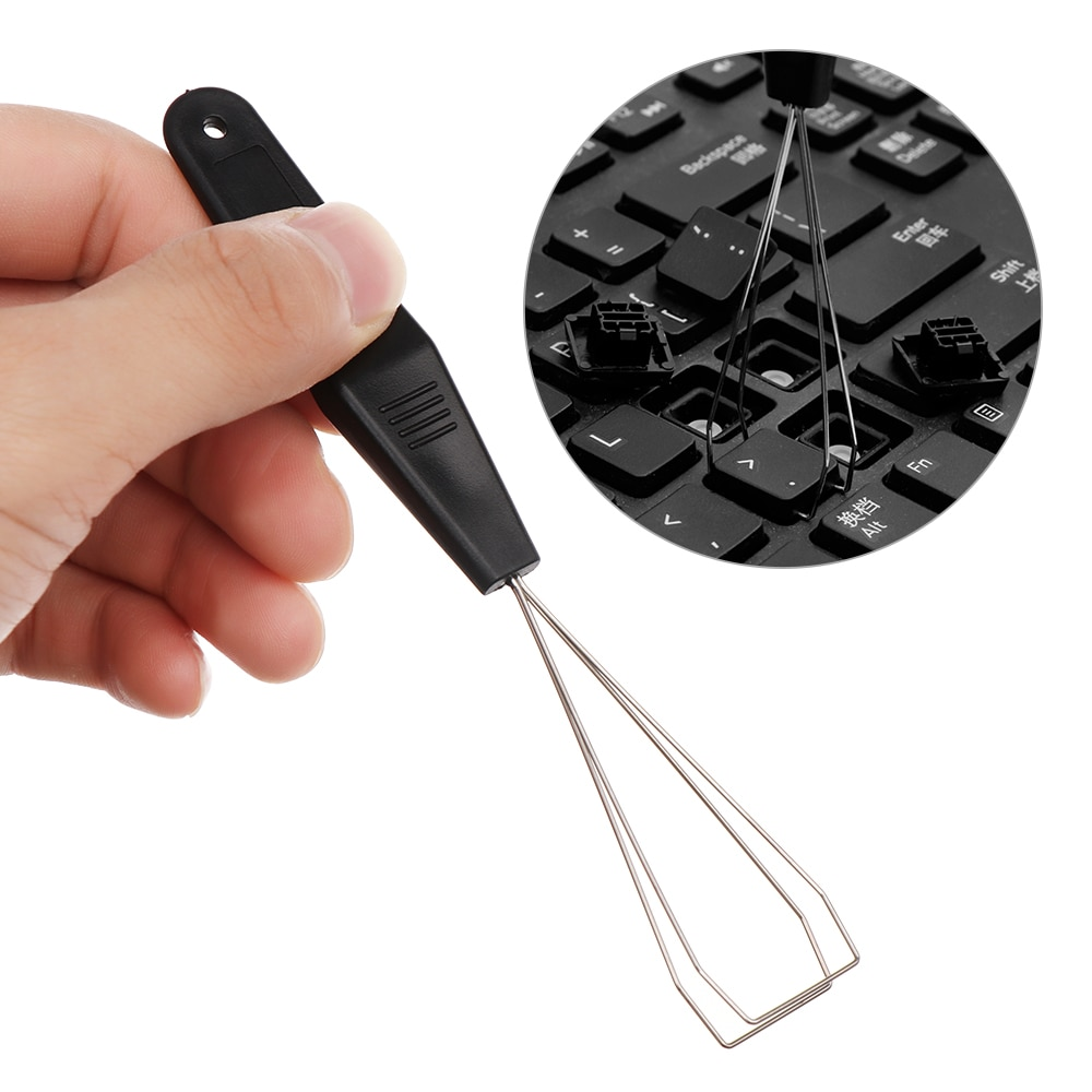 1PC Useful Keyboard Key Keycap Puller Remover With Unloading Steel Cleaning Tool Keycap Starter Keyboard Dust Cleaner Aid