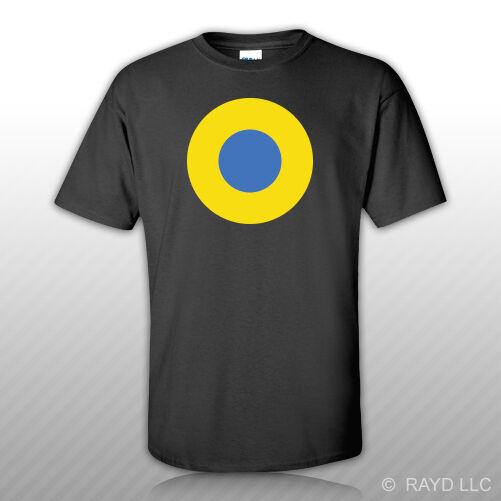 Camisa da camisa da força aérea ucraniana roundel t etiqueta livre ucrânia ukr ua