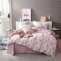 pink flamingos bedding set little flamingos duvet cover set pillowcase home textiles 23pcs bed linen king queen size dropship