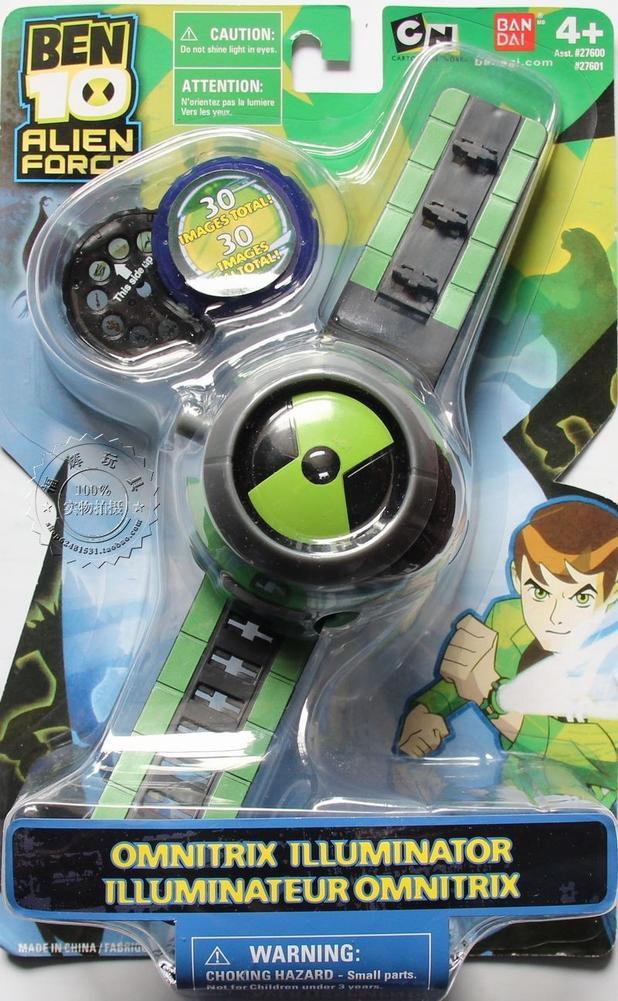Ben10 estilo crianças projetor relógio + frete grátis em todo o mundo