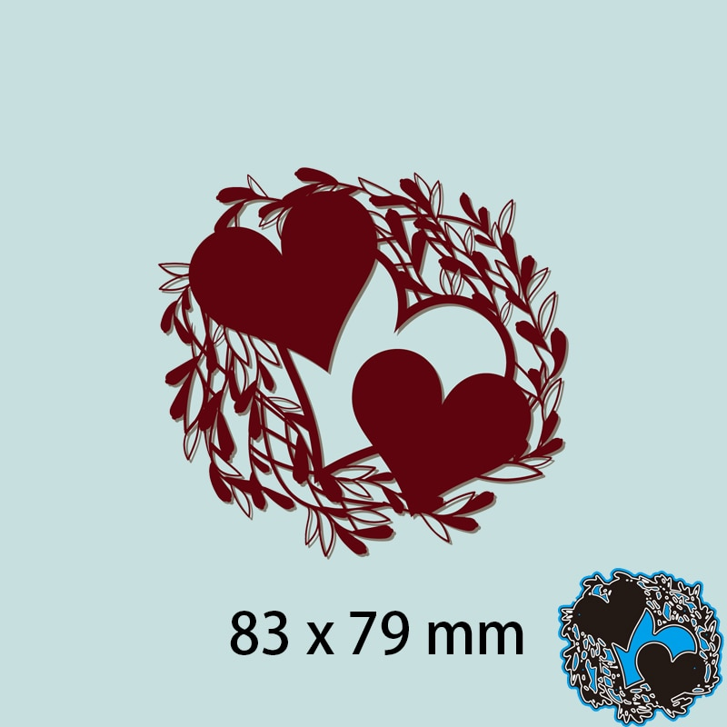Hollow Hearts Card Decor Cutting Metal Dies New Stencils DIY Scrap booking Paper Cards Craft Making Craft Decoration