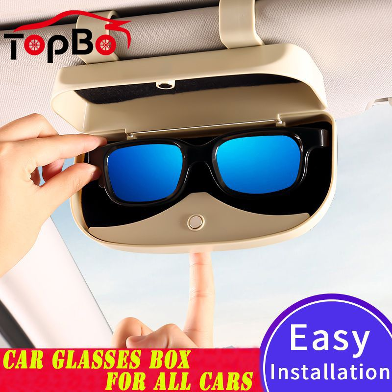 1 set car sunglasses glasses storage case box holder for toyota corolla rav4 rav 4 accessories 2011 2012 2013 2014 2015 2016 Auto Car Sunglasses Storage Case Holder Organizer Car Sun Visor Glasses Storage Box Glasses Holder Auto Accessories