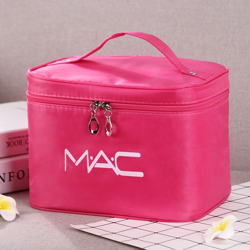 entrega rapida grande capacidade feminina saco de cosmeticos portatil novo caso bolsa