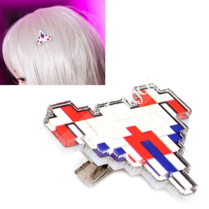 Acessórios cosplay anime danganronpa chiaki nanami clipe de cabelo super dangan ronpa bonito avião hairpin adereços