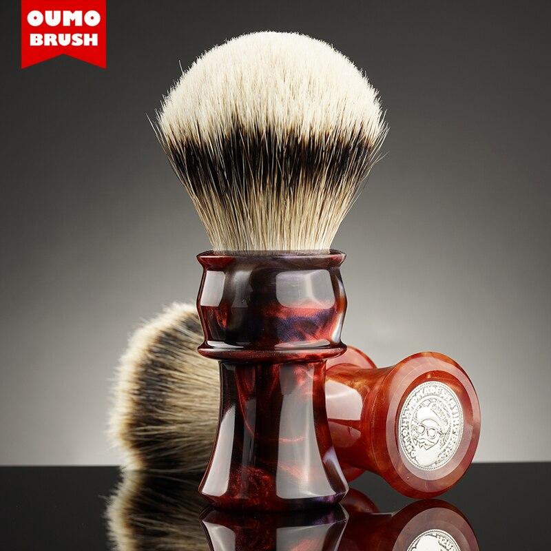 OUMO BRUSH - OUMO classic big hand volcanic shaving brush with Manchuria/ACE/SILK/HOOK/WT