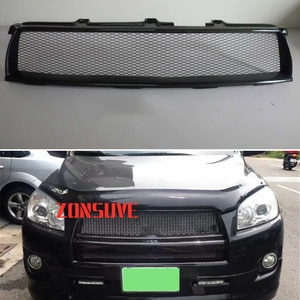 Use For Toyota RAV4 2009--2012 Year Carbon Fibre Refitt Front Center Racing Grille Cover Accessorie Body Kit Zonsuve